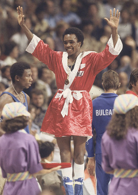 Ray Leonard at the '76 Olympics in Montreal.