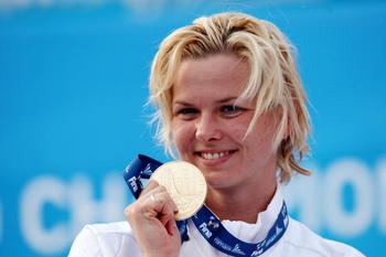 Britta Steffen owns two world records.
