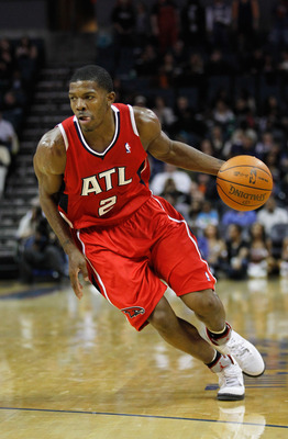 CHARLOTTE, NC - JANUARY 06:  Joe Johnson #2 of the Atlanta Hawks against the Charlotte Bobcats during their game at Time Warner Cable Arena on January 6, 2012 in Charlotte, North Carolina.  NOTE TO USER: User expressly acknowledges and agrees that, by dow