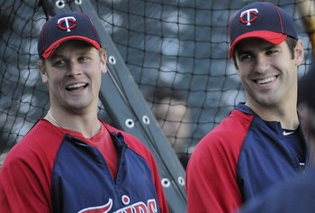 Justin Morneau (left) nor Joe Mauer are reliable sources of power.