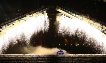 The spectacle of David Beckham driving the flame down the Thames was a highlight of the Opening Ceremonies.