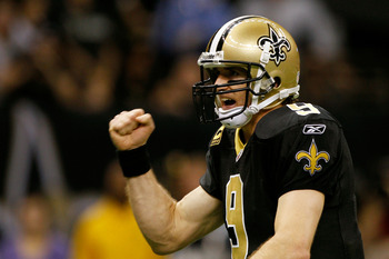 It was a record-setting 2011 for Saints quarterback Drew Brees