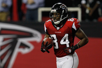 Falcons wide receiver Roddy White has caught 100-plus passes in two straight seasons