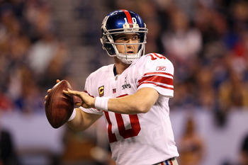 Giants quarterback Eli Manning came up big in the 2011 postseason