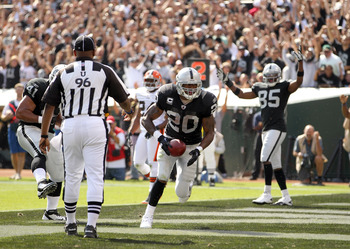 Raiders running back Darren McFadden (20) was limited to just seven games in 2011