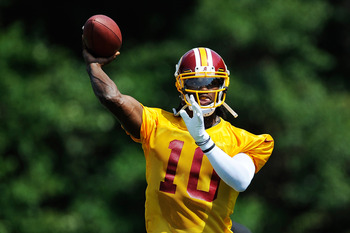 Rookie quarterback Robert Griffin III will try to prevent a fifth straight appearance in the NFC East basement for the Redskins