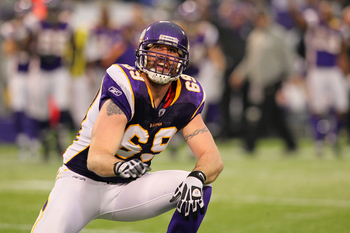 Vikings defensive end Jared Allen led the NFL with 22.0 sacks in 2011