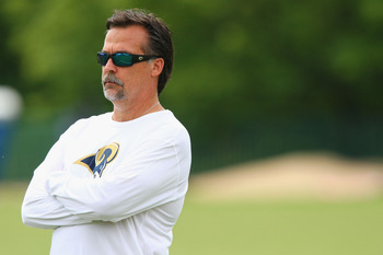 New Rams head coach Jeff Fisher returns to an NFL sideline after a year's absence
