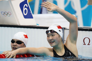 Shiwen Ye (right) set a new world record.