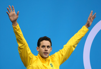 Thiago Pereira finished ahead of Phelps in the 400 IM.