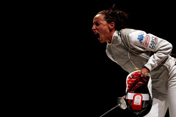 Elisa Di Francisca helped Italy sweep in fencing on Saturday.