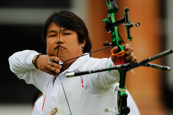 Oh Jin-Hyek led South Korea to archery gold.