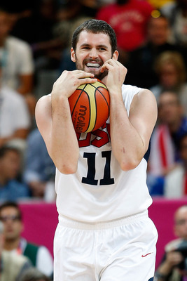 Kevin Love could only laugh at some of the calls against Team USA.