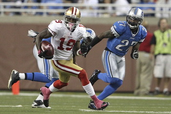 Niners kick returner/receiver Ted Ginn Jr. accounted for 1,554 all-purpose yards and two return touchdowns (one kick/one punt) in the 2011 season—his first with San Francisco.