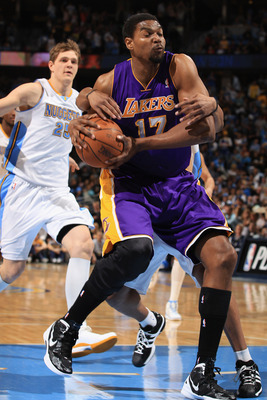 Don't blink; Andrew Bynum could be out of Los Angeles before you know it.