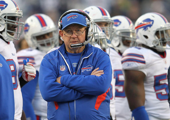 Head coach Chan Gailey enters his third season with the Bills.