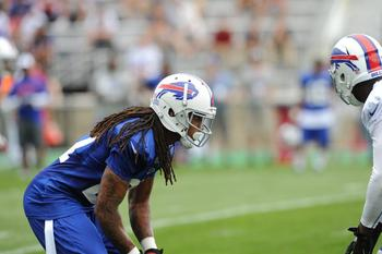 Rookie Stephon Gilmore at training camp (photo courtesy of BuffaloBills.com)
