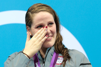 Missy Franklin had the right kind of tears today, showing guts and determination during a busy day in the pool.