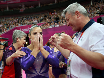 "Aly Raisman will be the one to tell her teammates, ""Keep calm and carry on."""
