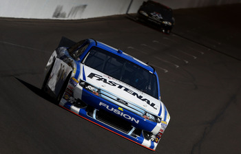 Carl Edwards finished 29th after starting on the outside pole at Indy