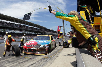 Kyle Busch finished second at Indy and gained ground in the wild card standings