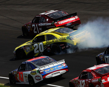 Joey Logano lost a lot of ground in the standings after a crash at Indy