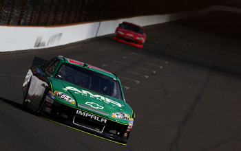 Dale Earnhardt Jr. took over the points lead with a fourth-place finish at Indy