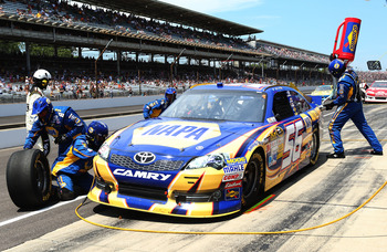 Martin Truex Jr. put some distance on the Chase bubble with a top 10 at Indy