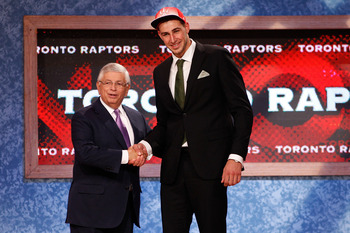 Jonas Valanciunas has yet to play an NBA game for the Raptors despite being drafted fifth overall in 2011