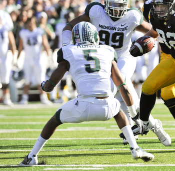 Rising senior cornerback Johnny Adams leads a much more experienced Michigan State defense in 2012.