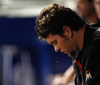 It's been a disappointing season for Josh Johnson and the Miami Marlins.