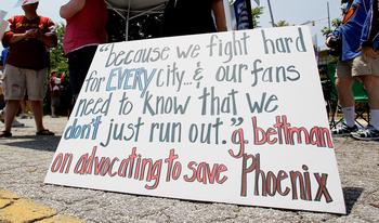 protests to keep the Thrashers in Atlanta