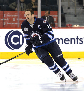 Andrew Ladd, current captain of the Winnipeg Jets