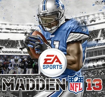 EA Sports' Madden 2013 cover boy and Detroit Lions wide receiver Calvin Johnson