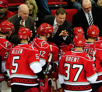 If the Hurricanes are going to move up in the Eastern Conference, Kirk Muller will have to keep his team focused.