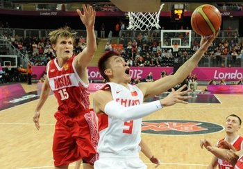 Kirilenko did what he does - play consistent basketball for Russia. Photo courtesy of Yahoo! Sports.