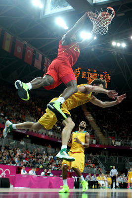 Spain's Serge Ibaka wasn't the only one flying through the air.