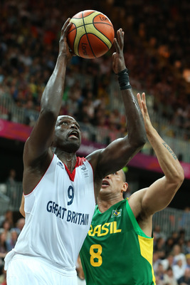 Luol Deng and the Olympic hosts put forth a valiant effort against heavily favored Brazil.