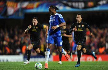 Drogba on the counterattack.