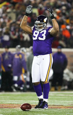 Dec 20, 2010; Minneapolis, MN, USA; Minnesota Vikings defensive lineman Kevin Williams (93) during the first quarter against the Chicago Bears at TCF Bank Stadium. Mandatory Credit: Brace Hemmelgarn-US PRESSWIRE