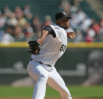 CHICAGO, IL - SEPTEMBER 25:  Starting pitcher Francisco Liriano #58 of the Chicago White Sox delivers the ball against the Cleveland Indians at U.S. Cellular Field on September 25, 2012 in Chicago, Illinois. The Indians defeated the White Sox 4-3.  (Photo