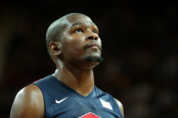 Kevin Durant loves the international long ball, but team USA is settling for too many threes.