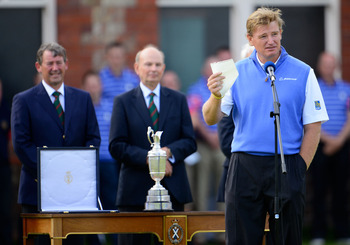 Ernie Els captured the Claret Jug two weeks ago