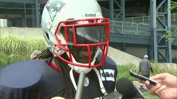 The energetic Brandon Spikes. (Image via CSNNE.com)