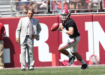 Saban is hoping to expedite Ely's development, in case he is needed at some point in the 2012 season.