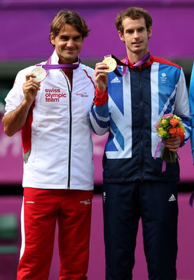 Silver and Gold Medallists - Roger Federer and Andy Murray