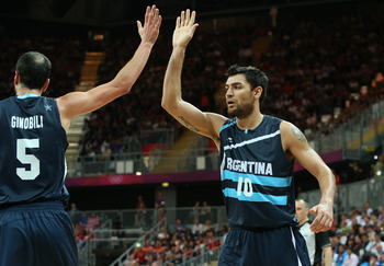 Ginobili and Delfino should breeze past Tunisia.