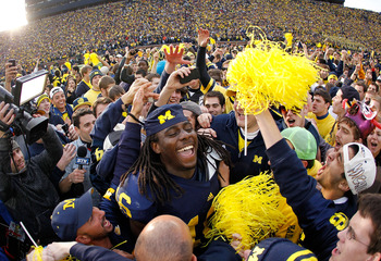 The crowd will be much surlier in 2012 should Michigan win this game again.
