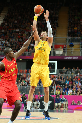 David Andersen's three point touch is typical of foreign bigs
