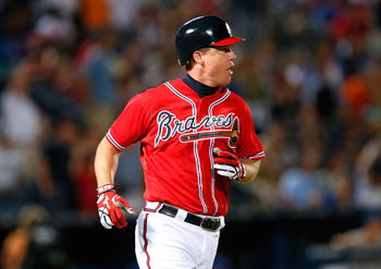 Chipper Jones could put the Braves into first with a good series in Washington.